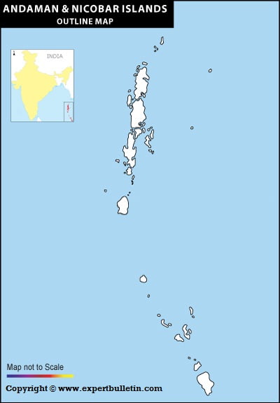 Blank / Outline Map of Andaman & Nicobar Islands