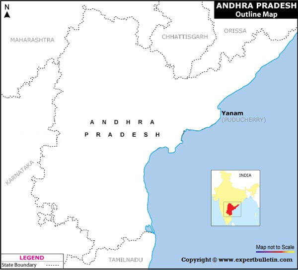 Blank / Outline Map of Andhra Pradesh
