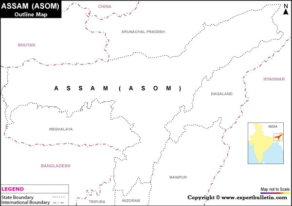 Assam Blank/Outline Map