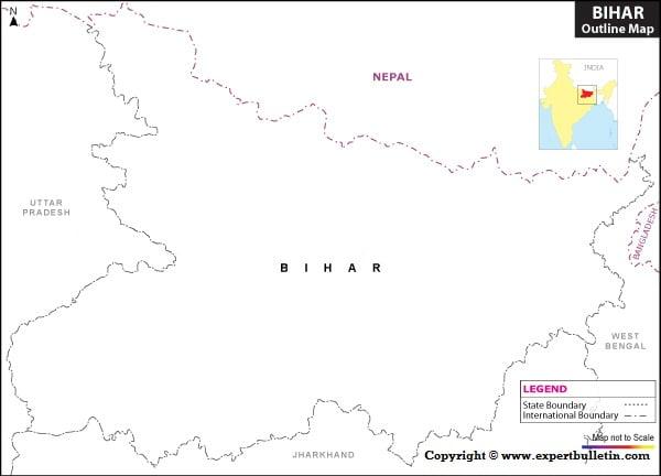 Blank / Outline Map of Bihar