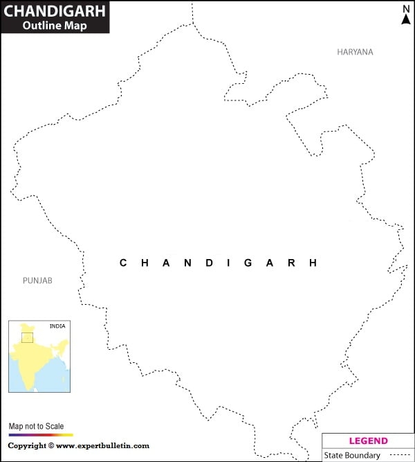 Blank / Outline Map of Chandigarh
