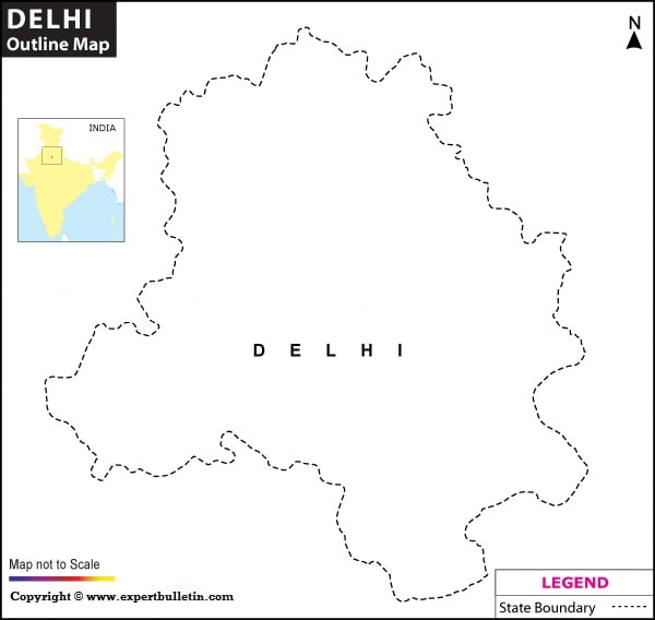 New Delhi Blank/Outline Map