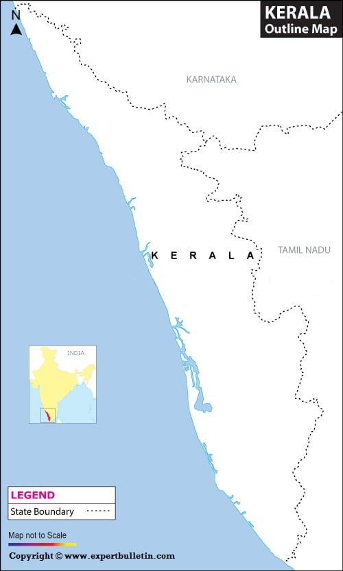 Blank / Outline Map of Kerala