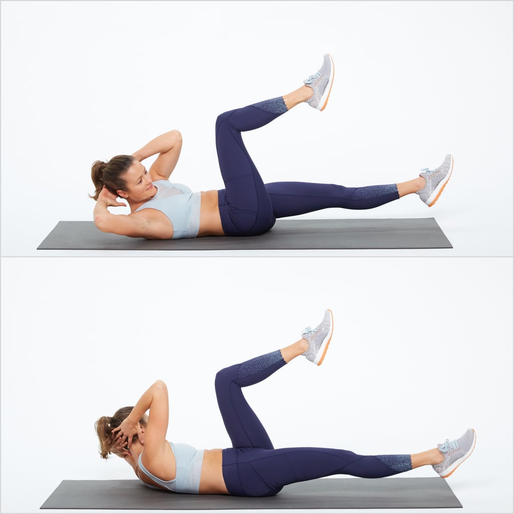 Bicycle Crunches for losing belly fat