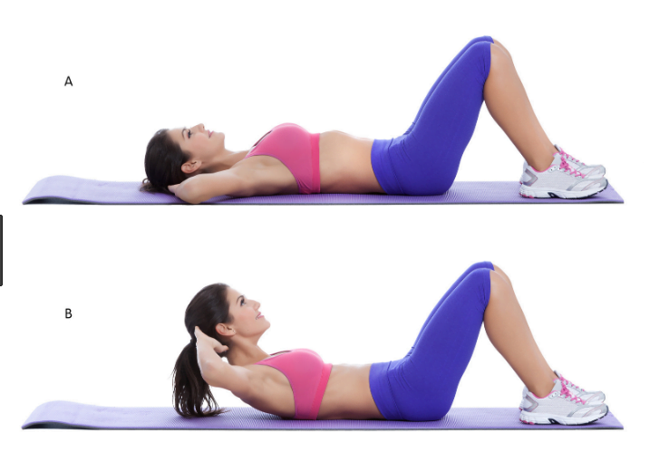Crunches Exercise for losing belly fat