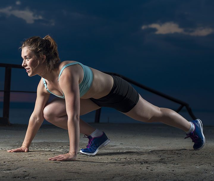 Mountain Climbers exercise for losing tummy fat