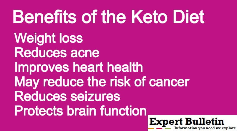 keto diet benefits infographic