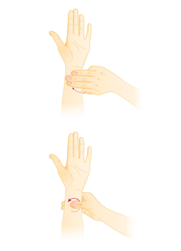 Acupressure to stop throwing up