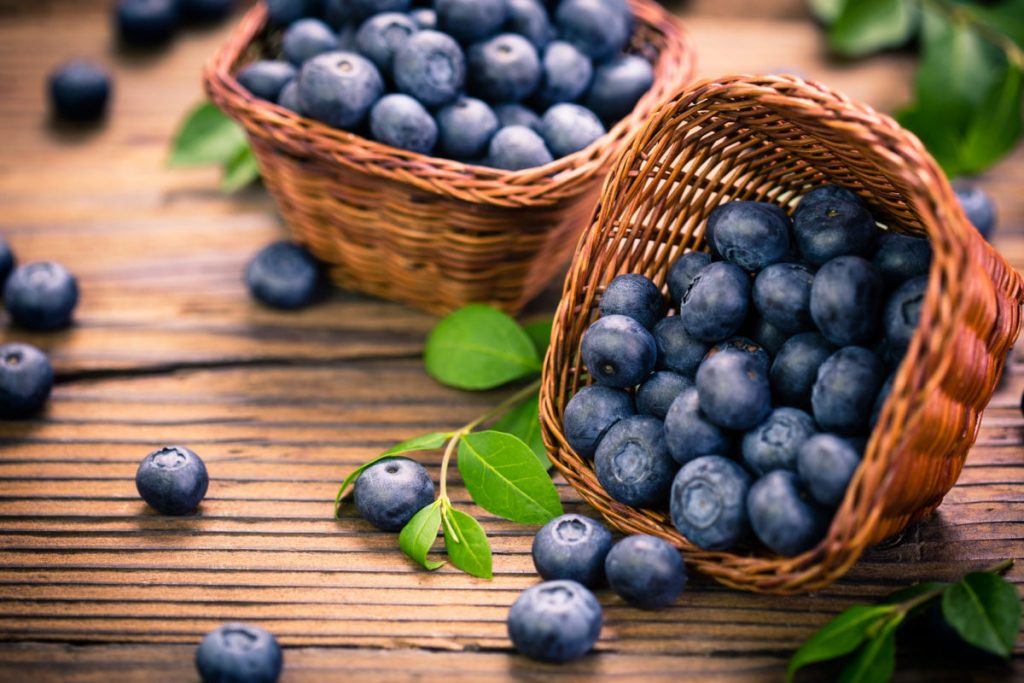 blueberry nutrition facts and calorie information