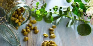 Capers nutrition facts label and calorie information