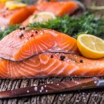 Fish, salmon, Atlantic, farmed, cooked, dry heat Nutrition Facts & Calories Information