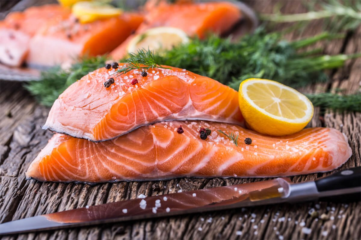 fish salmon calorie and nutrition facts