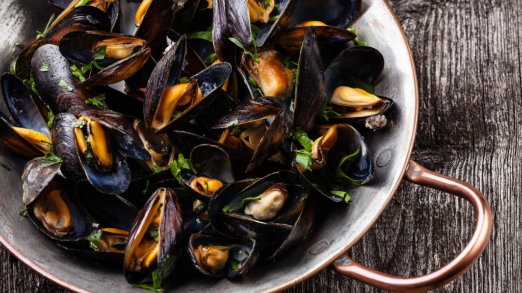 Mollusks, mussel Nutrition Fact