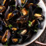 Mollusks, mussel, blue, cooked, moist heat Nutrition Facts