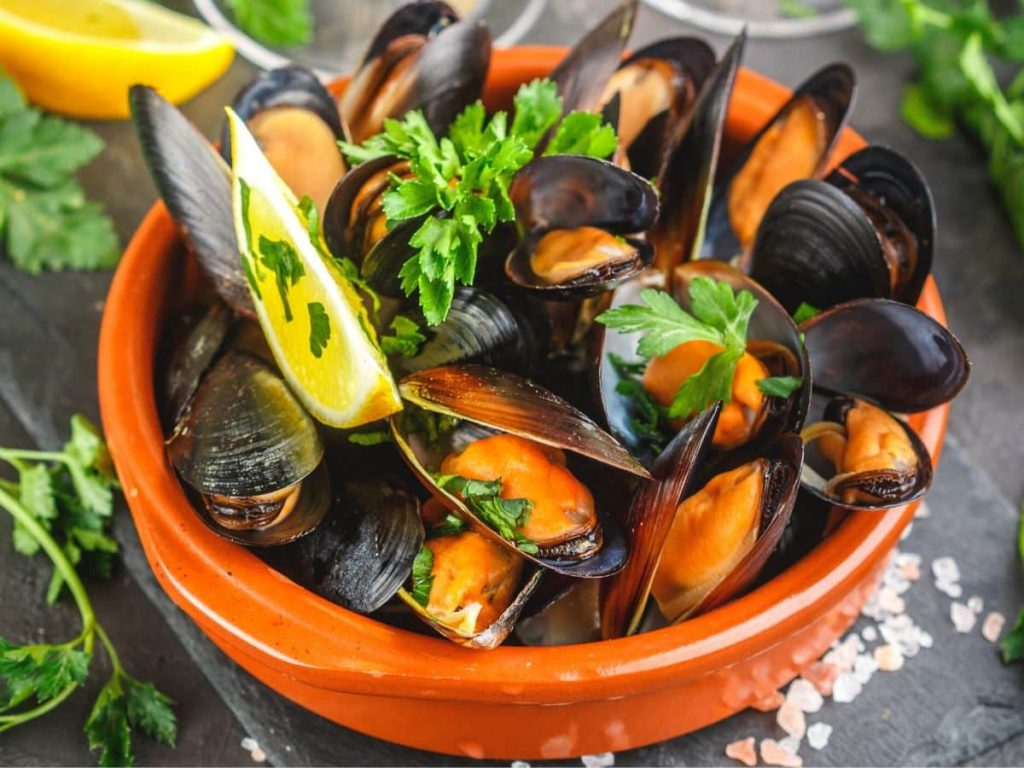 Mollusks, mussel Nutrition facts