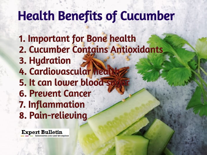 cucumber health benefits