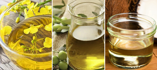 Canola Oil Vs Olive And Coconut Oil