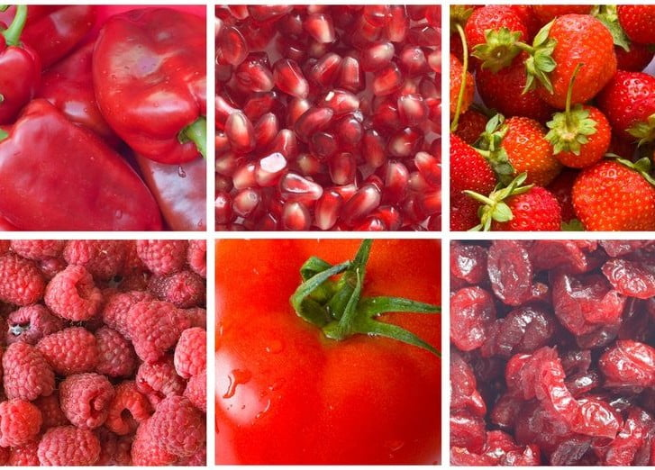 Red and Deep Pink Foods