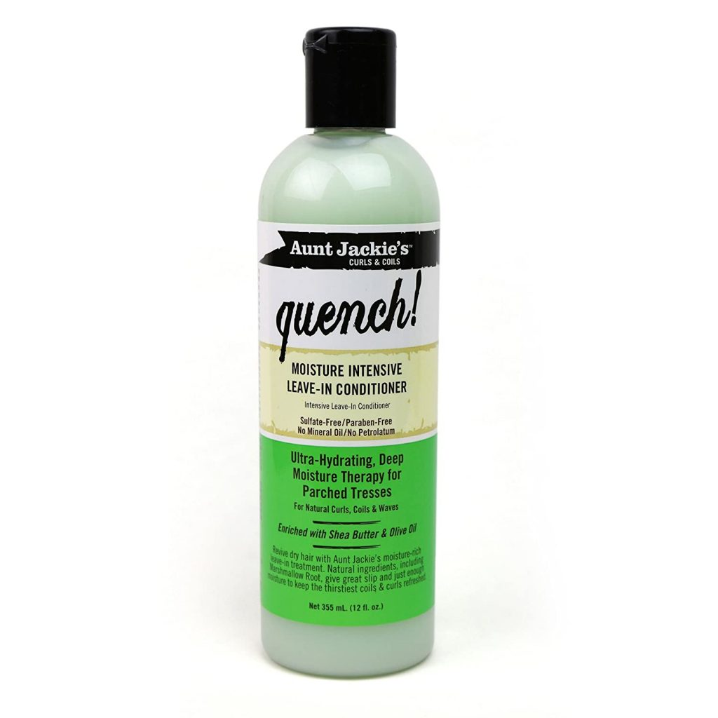Aunt Jackie's Quench, Moisture Intensive Leave-in Conditioner, Ultra-Hydrating, Deep Moisture Therapy for Parched Hair