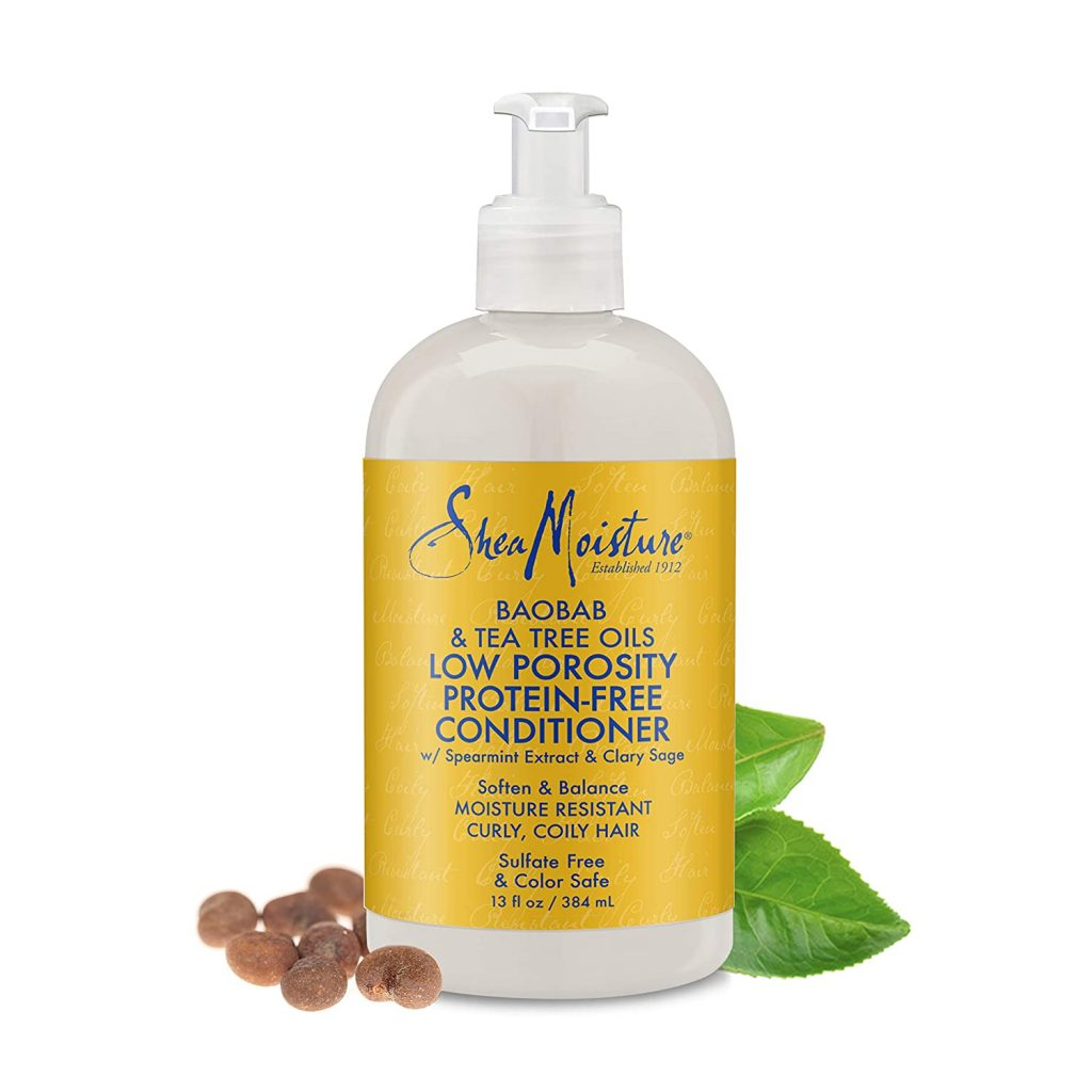 SheaMoisture Protein-Free Conditioner for Curls Baobab & Tea Tree Oils 13 oz