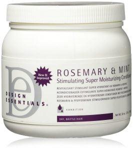Design Essentials Rosemary & Mint Stimulating Super Moisturizing Conditioner For Dry, Brittle Hair - 32 Oz