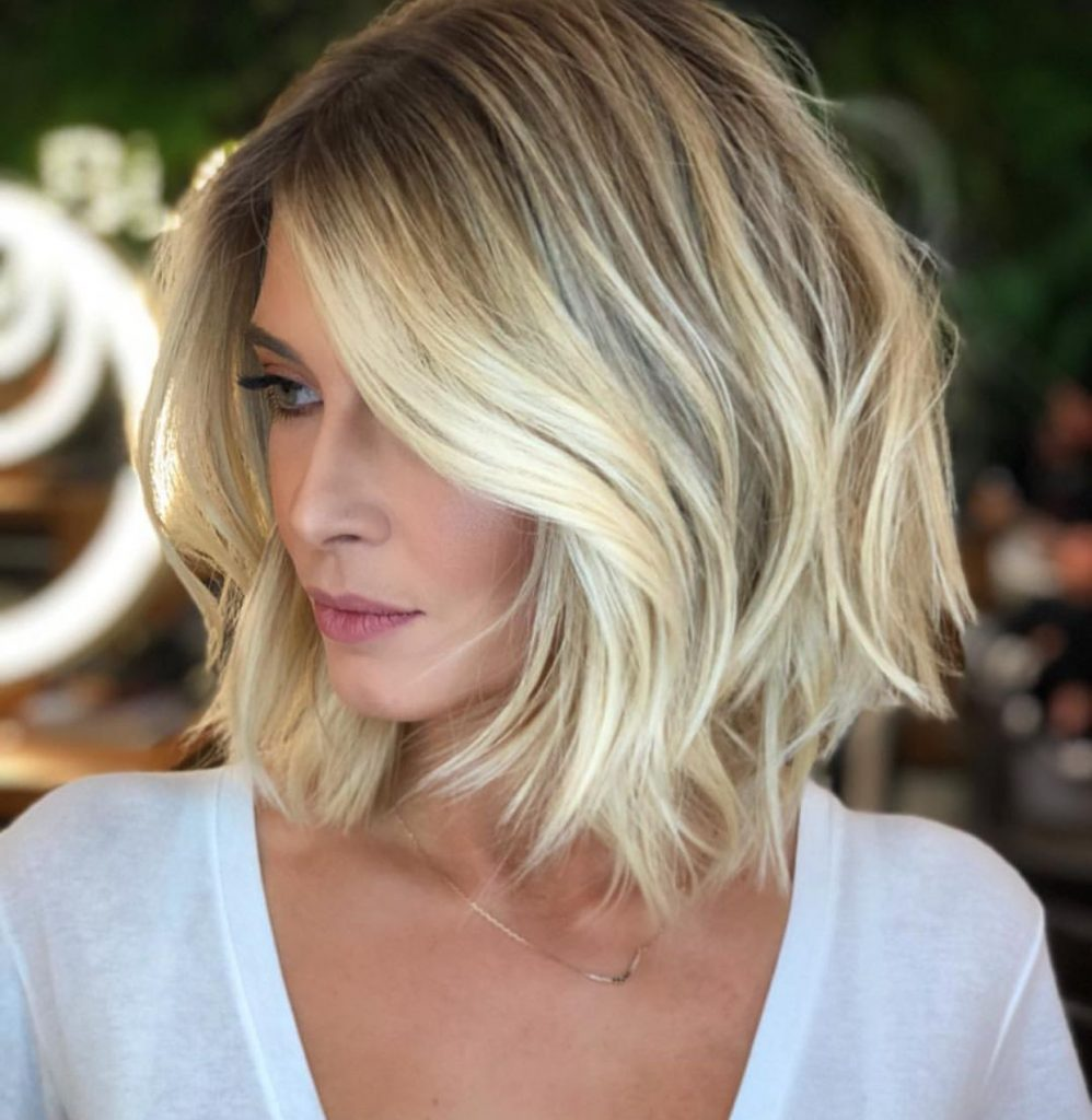Jaw Length Blonde Bob Hairstyle