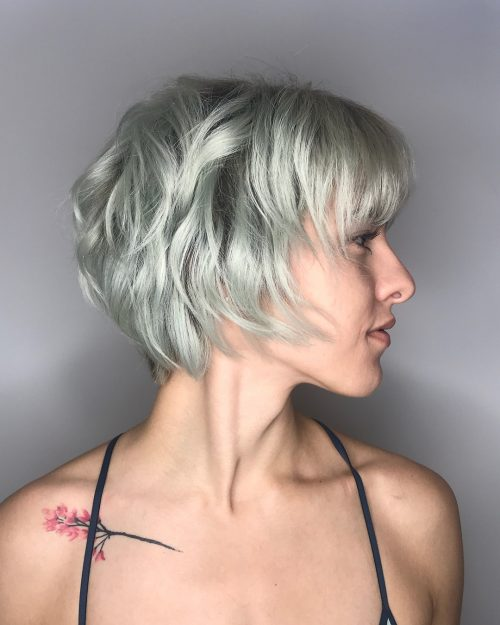 Jaw-length Shag Hairstyle