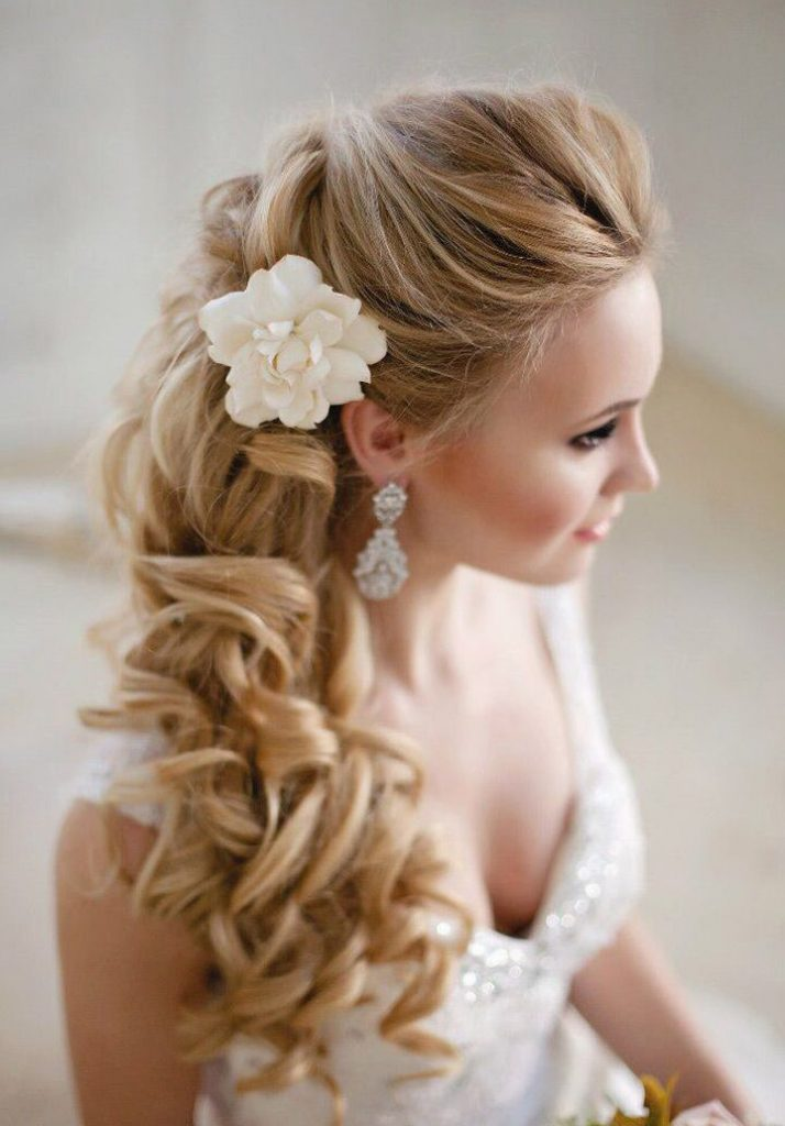 Sweep wedding hairstyle