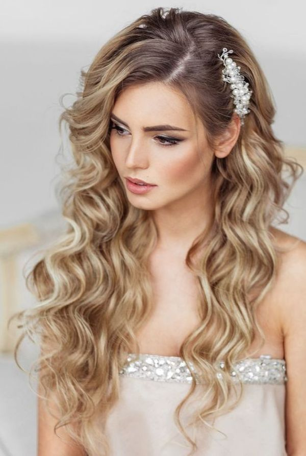 Tease wedding hairstyle