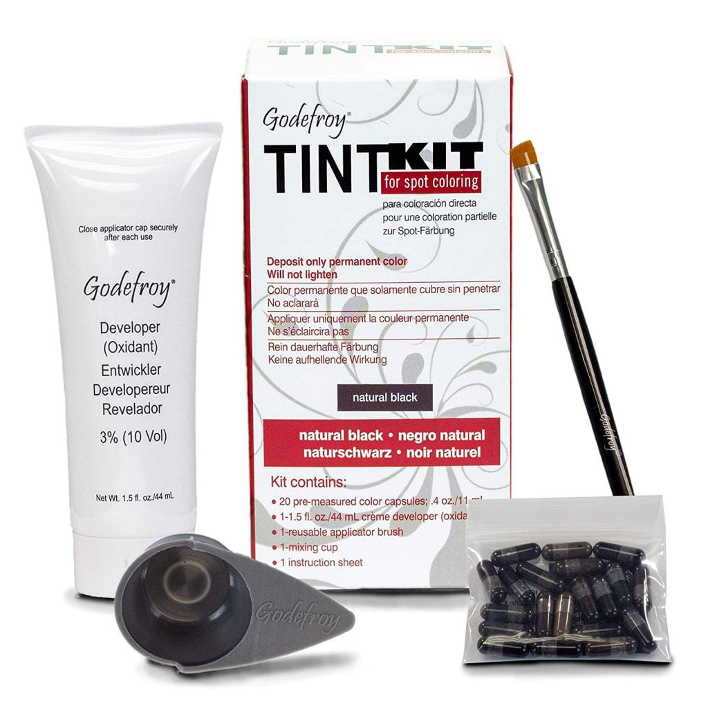 Godefroy Professional Hair Color Tint Kit, Natural Black