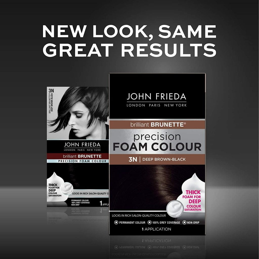 John Frieda Deep Brown Black Hair color