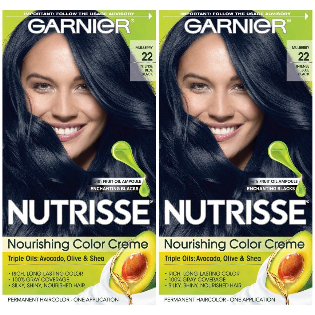 Garnier Hair Color Nutrisse Nourishing Creme, 22 Intense Blue Black