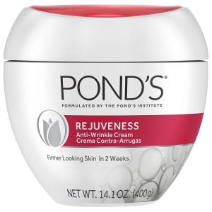 Pond's Anti-Wrinkle Face Cream Anti-Aging Face Moisturizer With Alpha Hydroxy Acid and Collagen