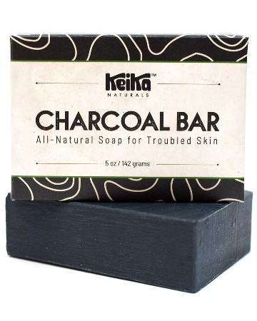 Keika Naturals Charcoal Black Soap Bar for Acne