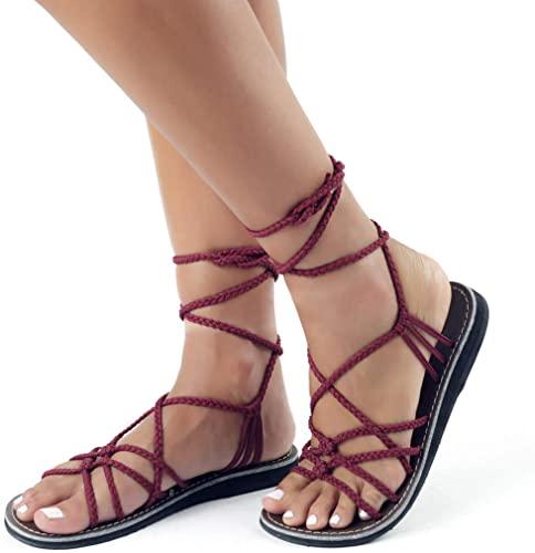 Plaka Flat Gladiator Sandals